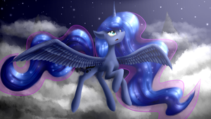 Luna in the sky by CrestfallenCelestia