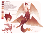 Azrael reference sheet by geheichous
