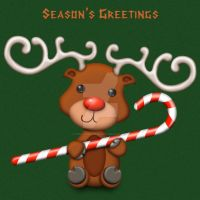 Rudolph Xmas Card by FROG-and-TOAD
