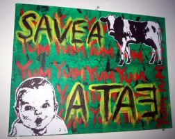 save a cow, eat a baby by alexcady