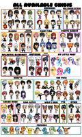 Collection of all Chibis by IcyPanther1