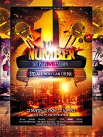 PSD NumberOne Party Flyer Template by retinathemes