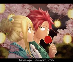 Fairy Tail : Natsu Lucy _ Summer Night by MimiSempai