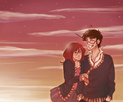 James and Lily: Old Sunset by Avender