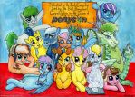 Ponycon Heads of Department - OCs Group Portrait by Invalid-David