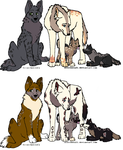 Wolf Adoptables Open by poisonflame