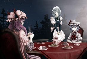 Night tea party by U-Joe