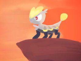 Jangmo-o on Cliff