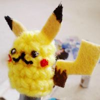 pikachu pen pencil topper by hellohappycrafts