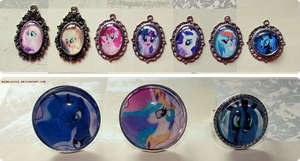 MLP pendants and rings by MadBlackie