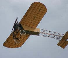 bleriot x1 flying over by Sceptre63