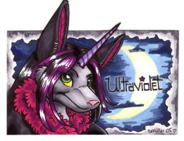 Badge - Ultraviolet by foxyfennec