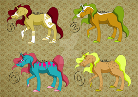 .:Horse Adoptables - OPEN:. by xRhythmOfLove