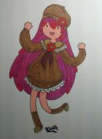 Art trade-Adventure Time Mikan by Honey-Hime