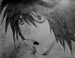 Lawliet and Ice Cream by jayyx3