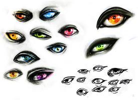 Eyes sketchdump by Missleepify