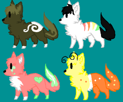 Canine Point Adopts (2/4 LEFT) by PikPik-Adoption