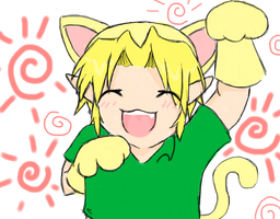 Young Link the kitty cat by girloveslink