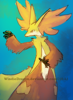 Delphox by WindieDragon