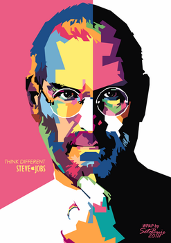 Steve Jobs in WPAP by setobuje