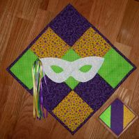 Mardi Gras Wall Hanging Quilt by UrsulaPatch