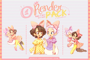 Render Pack #01 - PrettyFriends by Nuuii