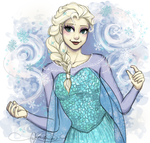 Queen Elsa by Curly-Qs