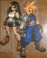 Final Fantasy VII Cloud and Tifa Perler by MaraVWGolf