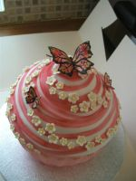 Super Pink Giant Cup Cake by gertygetsgangster