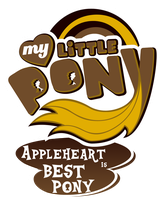 Fanart - MLP. My Little Pony Logo - Appleheart by jamescorck
