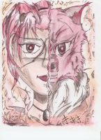 Kisaki and Fox Face Off by flamable77