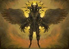 mythic angel of death concept by Imaginationland1992