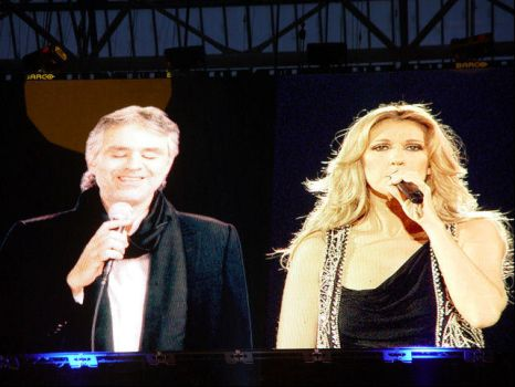 Celine Dion and Andrea Bocelli by Strawberry-Desire