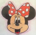 MY DRAWING OF MINNIE MOUSE! by BlackWolfMelody24