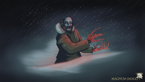 The Thing: Bennings In The Snow (Digital and Ink) by MagnumImago