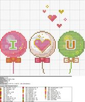 ILY Balloons XStitch Pattern by niakane