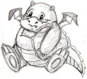 CP: Baby dragon for Chained--Butterflies by MusicAndArtItsMyLife