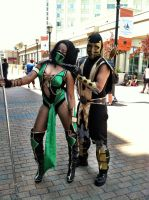 Mk9 scorpion and jade cosplay 2 by Keykee88