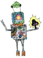 Psychedelic Robot..2 by ResidentofBoxFive
