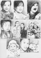 Family Portrait Sketch Cards 2 by tdastick