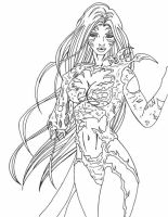Witchblade lines by anapaulabp