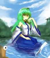 sanae is not happy by crossover-live