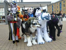 Fursuiter Group by paulsky1