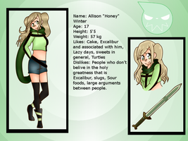 Soul Eater OC Profile: Honey Winter by Siesta-chan