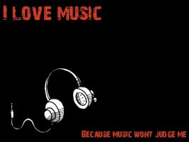 I love music wallpaper by SenVeBen
