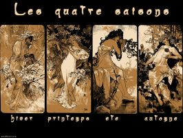 The four seasons of Mucha by juhae