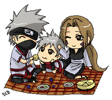 kakashi Family  commission by DannyC8