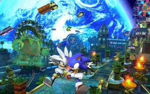 Sonic vs Silver at Tropical Resort by Silvazy