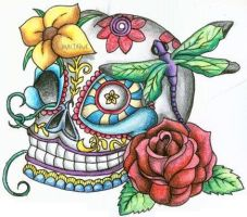 Day of the Dead Skull by TikiTavi