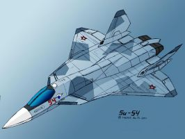 Sukhoi Su-54-3 by TheXHS
